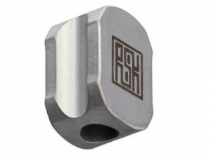 Real Steel Titanium Hexagon Lanyard Bead