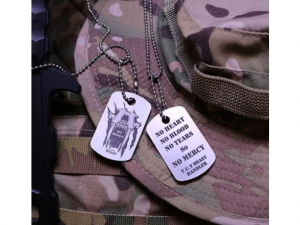 RAIDOPS No Mercy Dog tag