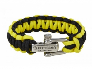 Pentagon Survival Armband (Gelb/Schwarz)