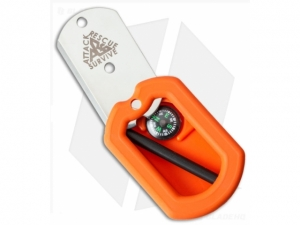 Dog Tag Survival Knife Kit Orange