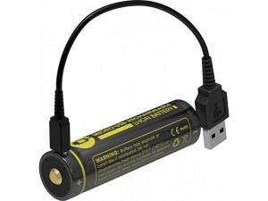 Nitecore 18650 3400mAh Ionen Akku (USB)