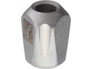 Real Steel Titanium Pyramid Lanyard Bead (Stonewash)