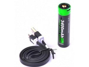 Nextorch® Akku 18650 USB Lithium-Ion (Li-Ion) 3.6V 3.400mAh