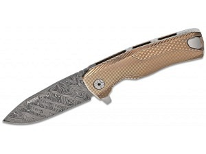 Lion Steel ROK Titanium Premium Folder Damascus