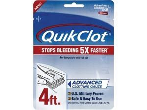 """Adventure Medical Kits QuikClot Gauze 3"""" x 4'"""