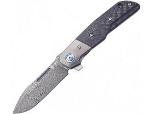 MKM Clap Carbon Titanium Bolster Premium Folder (Damasteel)