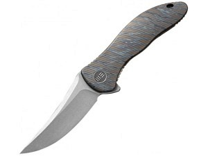 We Knife Synergy 2 Framelock (Tiger Stripe Flame Finish)
