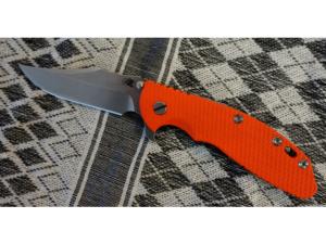 Rick Hinderer XM24 Bowie Mehrzweckklapmesser (Orange)