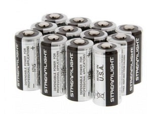 Streamlight CR123 3V Lithium Batterie